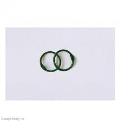 Kovové kroužky 18/20mm - zelené