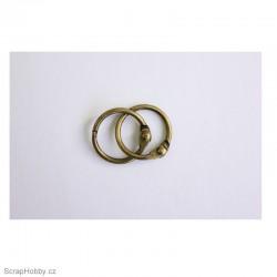 Kovové kroužky 18/20mm - antik
