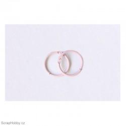 Kovové kroužky 18/20mm - růžové