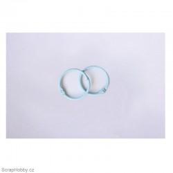Kovové kroužky 18/20mm - modré