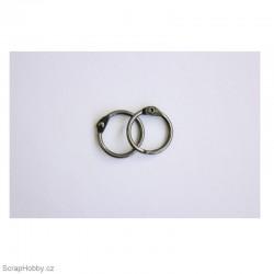 Kovové kroužky 18/20mm - starostříbrné