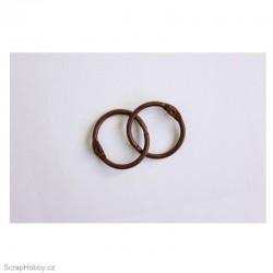Kovové kroužky 22/25mm - hnědé