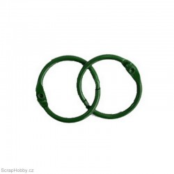 Kovové kroužky 22/25mm - zelené