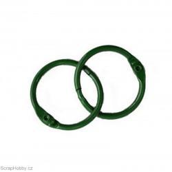Kovové kroužky 28/30mm - zelené