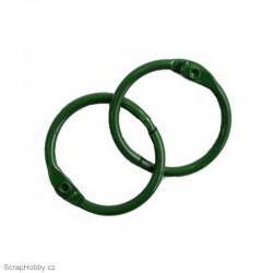 Kovové kroužky 33/35mm - zelené