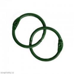 Kovové kroužky 38/40mm - zelené