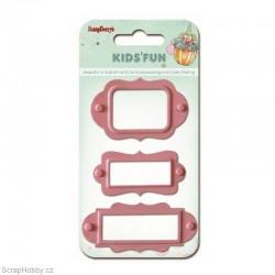 Sada hřebíčků - Štítky - 3ks - růžové