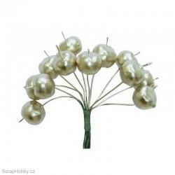 Dekorační svazek zlatých jablíček - 12ks.