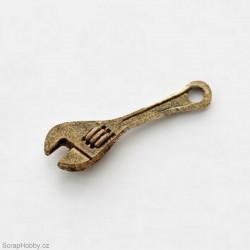 Francouzský klíč - staromosaz