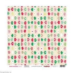 Oboustranný papír - Holiday Fun - z kolekce Happy Holidays