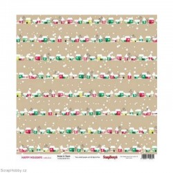 Oboustranný papír - Snow in Town - z kolekce Happy Holidays
