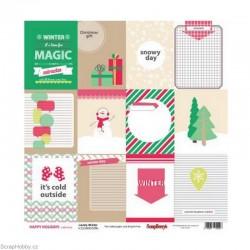Oboustranný papír - Lovely Winter - z kolekce Happy Holidays
