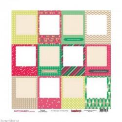 Oboustranný papír - Frames - z kolekce Happy Holidays