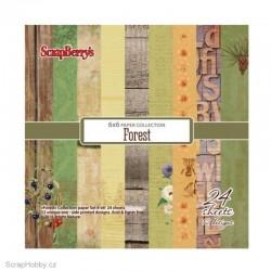 Sada papírů - Forest - 15x15cm