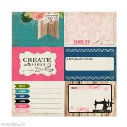 Oboustranný papír - Sew Sweet - kolekce Sew Lovely