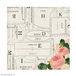 Oboustranný papír - Beautiful Blouse - kolekce Sew Lovely