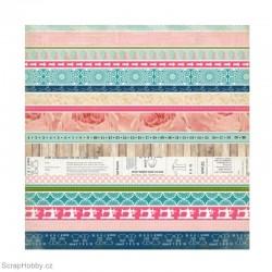 Oboustranný papír - Border Strips - kolekce Sew Lovely
