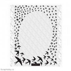 Embosovací kapsa - Oválný rámeček vlaštovky