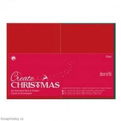 Blahopřání a obálky - 50ks - červených + zelených