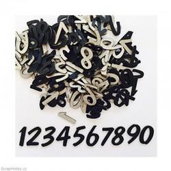 Číslice 3 - černá.