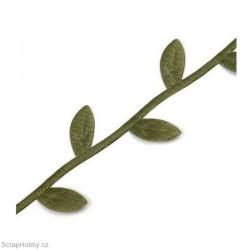 Stužka s lístečky - zelená