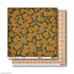 Oboustranný papír - Žluté růže