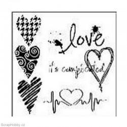 Šablona - Complicated Hearts - 15,24x15,24
