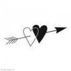 Razítko dřevěné - Spojená srdce