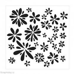 Šablona - Kytičky - 15,24x15,24