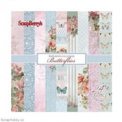 Sada papírů - Butterflies - 15x15cm