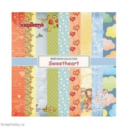 Sada papírů - Sweetheart - 15x15cm