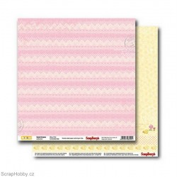 Papír - Oboustranný papír - Sweet Dreams - Wavy Pink