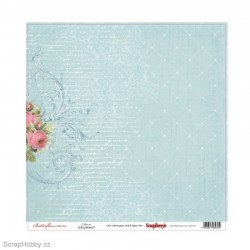 Jednostranný papír - Butterflies - Charm