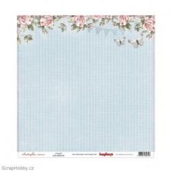 Jednostranný papír - Butterflies - Delight