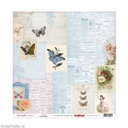Jednostranný papír - Butterflies - Beauty