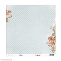 Jednostranný papír - Butterflies - Morning