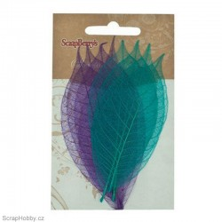Síťované listy - Gumovníku - fialové - 8ks