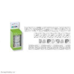 Washi páska - Sada - Bílo-stříbrná