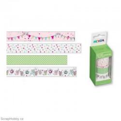 Washi páska - Sada - Růžové girlandy