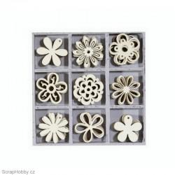 Dřevěné dekorace - Kytičky 1.