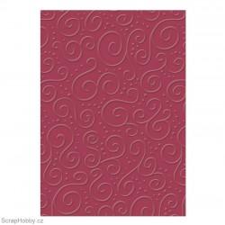 Embosované papíry - Ornamenty - červené
