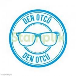 Transparentní razítko - Den otců - brýle