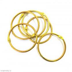 Kovové kroužky 50mm - zlaté