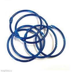 Kovové kroužky 50mm - modré