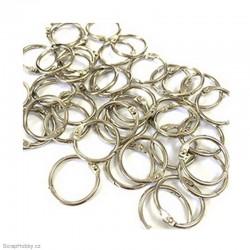Kovové kroužky 21mm - stříbrné