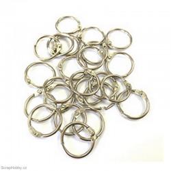Kovové kroužky 17mm - stříbrné