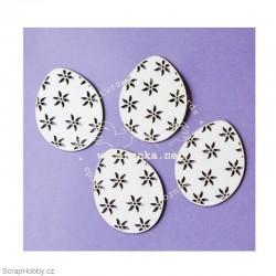 Vajíčko s kytičkami - 4ks