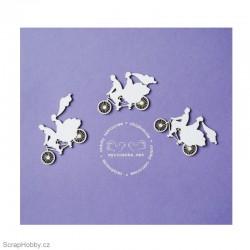 Ženich a nevěsta na kole - 3ks