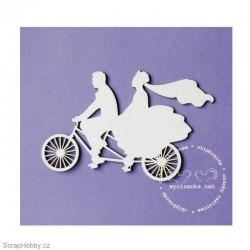 Ženich a nevěsta na kole - 1ks