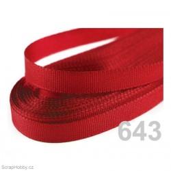 Taftová stuha - červená